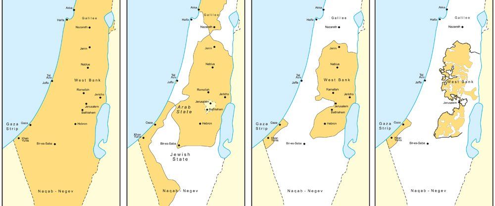 Misleading Maps of Israel and Palestinian Territories