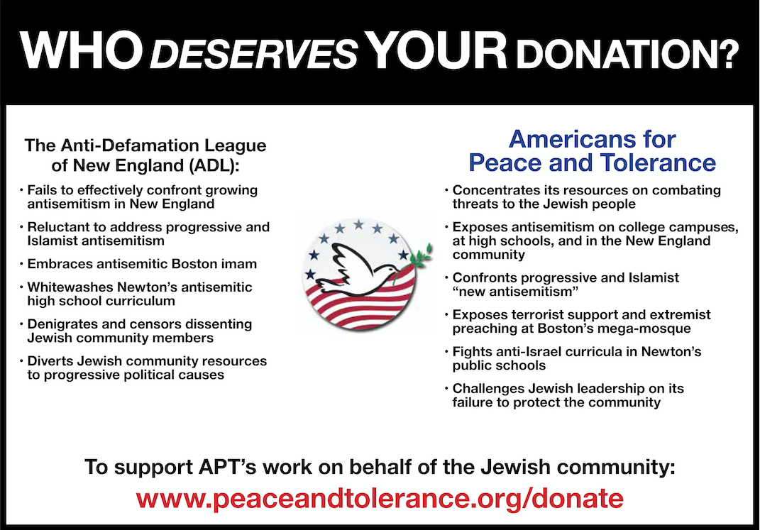 ADL is Failing to Protect and Defend the Jewish Community — Support APT